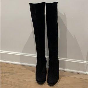 BRAND NEW Stuart Weitzman Suede Wedge Boots